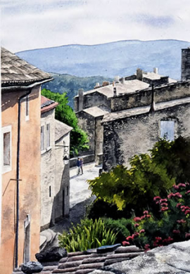 Haut Gordes - 18in x 12in - price $1000