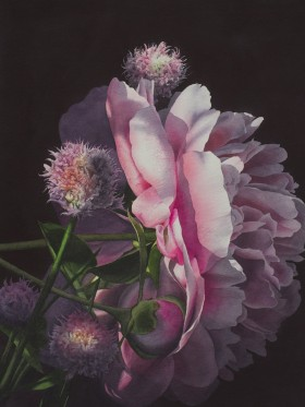 Peony and Chives - sold