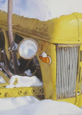 G's Tractor - size 19in x 14in - price $200 unframed / $325 framed