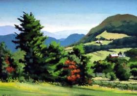 Blue Hills of Vermont - pastel