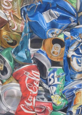 Recycled Cans - size 29in x 21in - price $8000