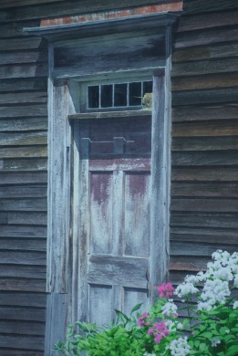 18th Century Door - size 21in x 14in - sold