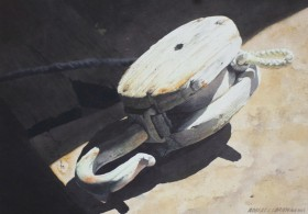 Block and Tackle - size 14in x 20in