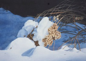 Hydrangea in Winter - size 12in x 18in - sold