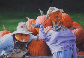 Pumpkin Gothic - size 20in x 28in - price $3800