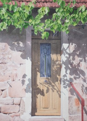 Doorway, St. Julien - size 20in x 14in - sold