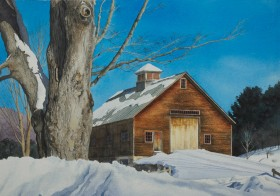 Brown Barn - size 15in x 22in (image)
