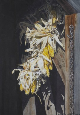 Drying Corn - size 19.5 x 14in (image)