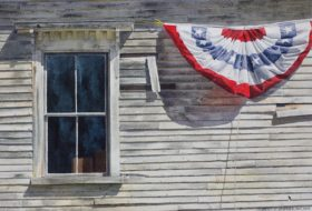American Bunting - image size 15 x 22in.