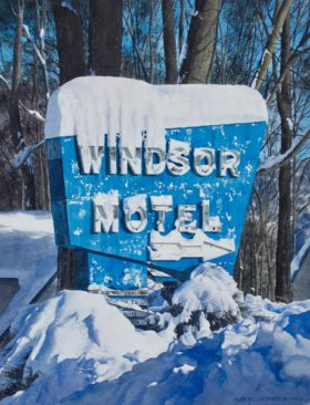 Windsor Motel ~ 22 x 16in image size