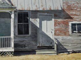 April Slant ~ size 16 x 22in image